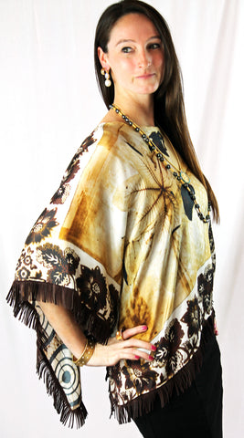 Janet Deleuse Sheer Silk Wrap, SOLD