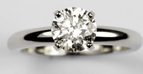 Tiffany Style Platinum Diamond Ring, SOLD
