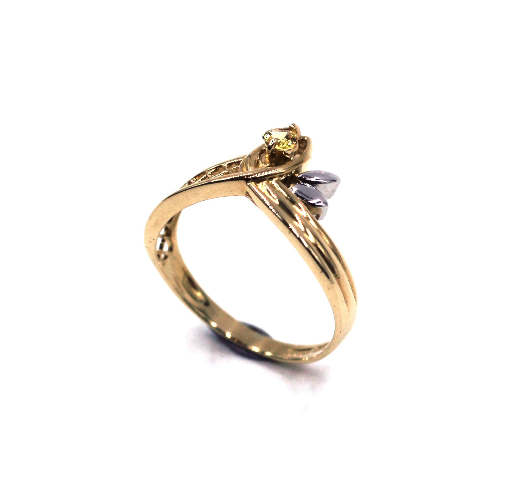Vintage Yellow Sapphire Ring, SOLD