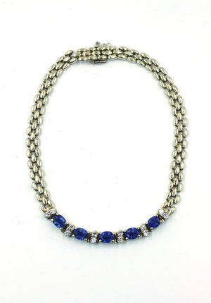 Vintage Sapphire and Diamond Bracelet, SOLD