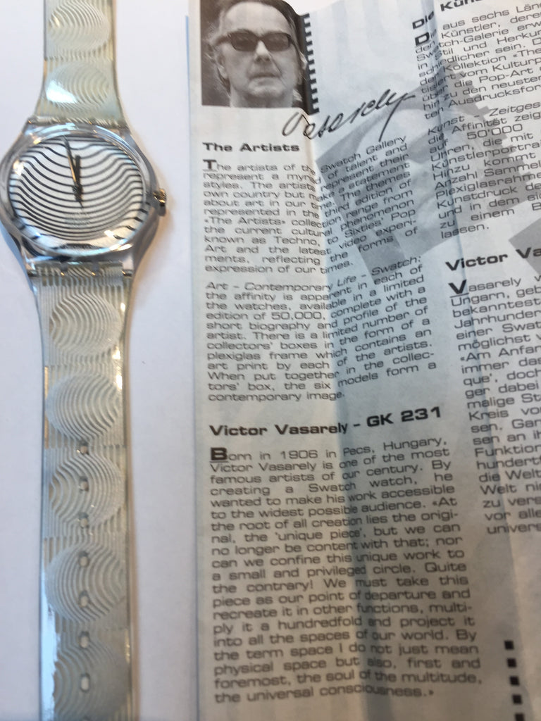 RARE! New Collector's Artist Vasarely Swatch
