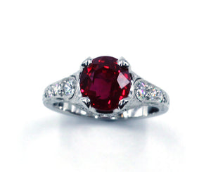 Janet Deleuse Designer Ruby Ring, SALE, SOLD