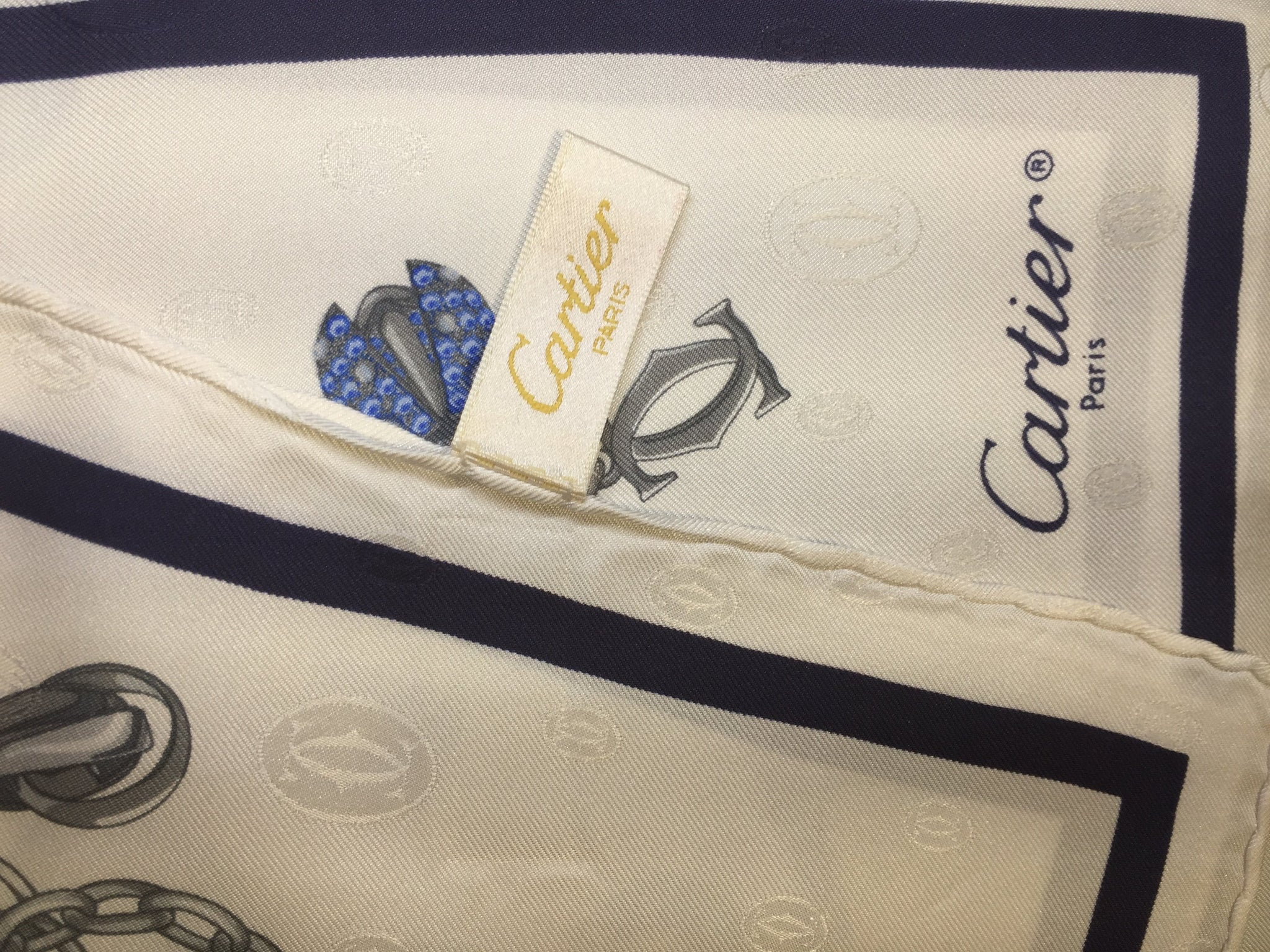Pre-Owned  Cartier Silk Scarf, SALE, SOLD