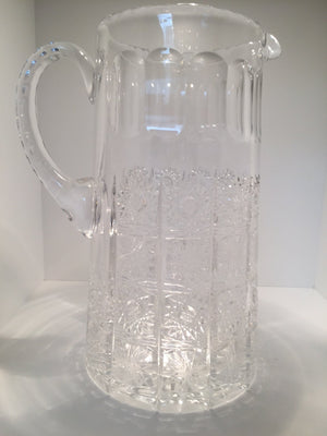 Selected Vintage New European Ornate Cut-Crystal Pitcher, SALE, SOLD
