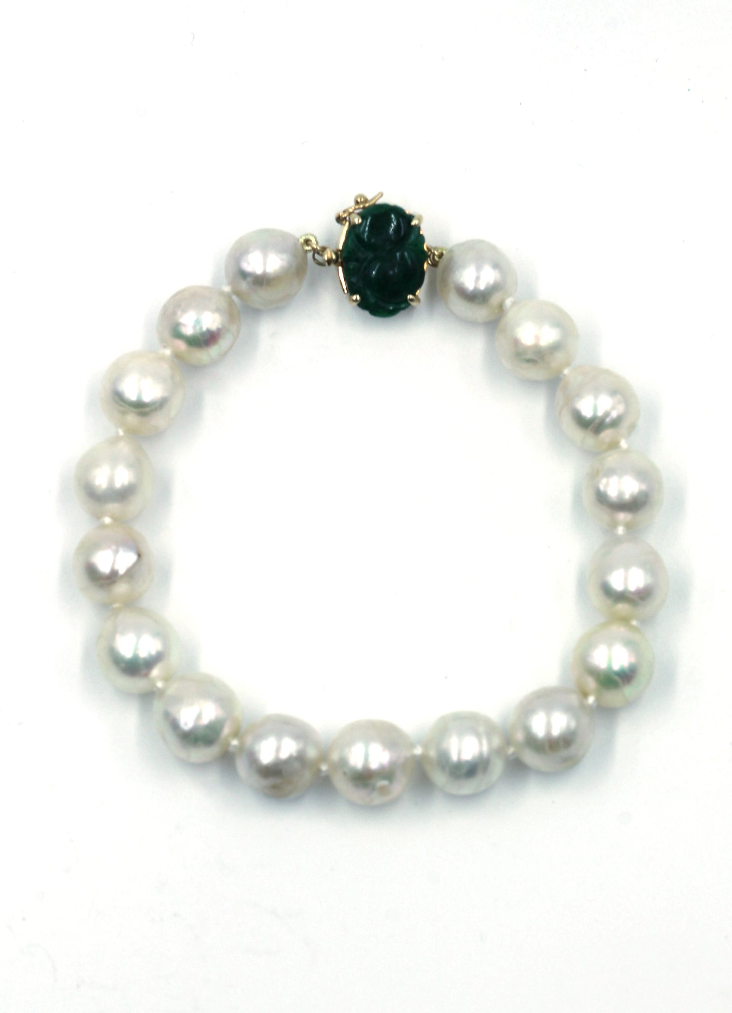 Deleuse Baroque Pearl and Jade Bracelet, SOLD