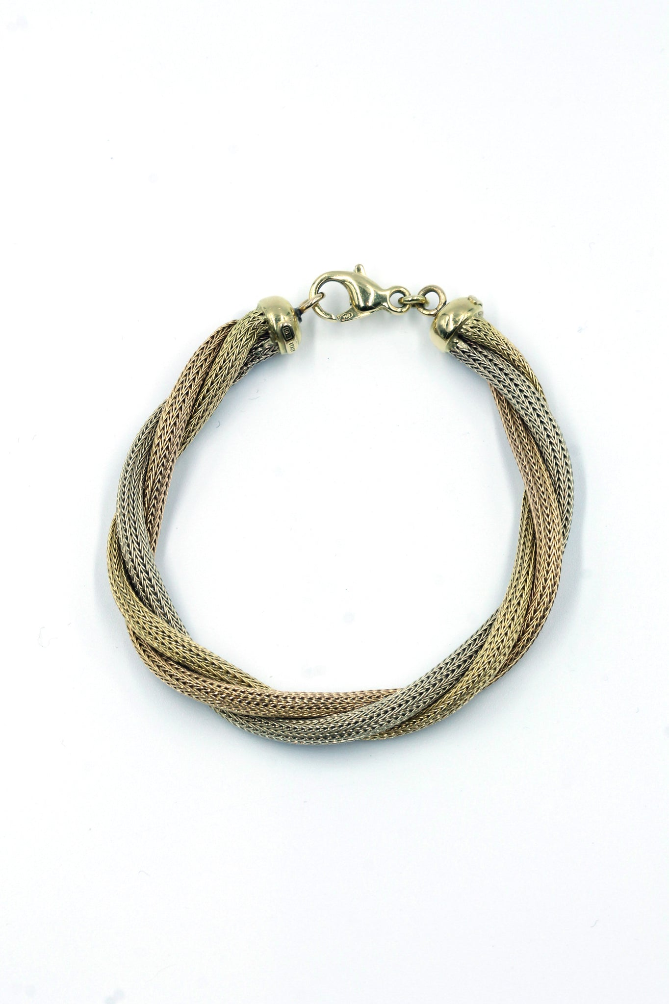 Vintage 18k Tri-Color Gold Bracelet, SOLD