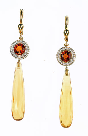 Janet Deleuse Designer Yellow Sapphire Earrings