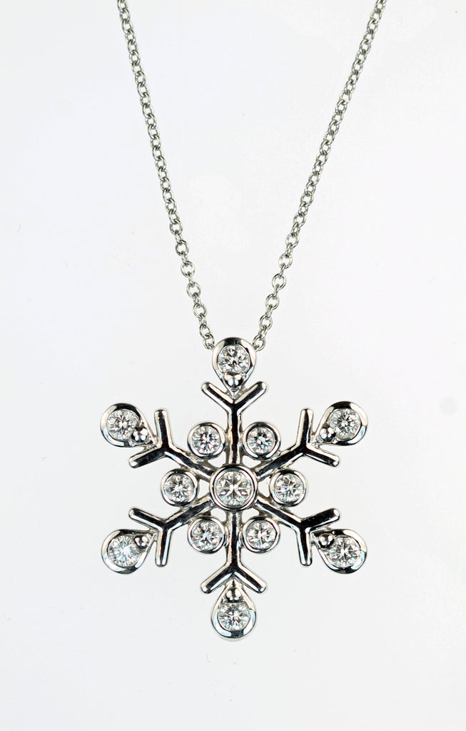 Vintage tiffany snowflake diamond pendant sold deleuse fine vintage tiffany snowflake diamond pendant sold mozeypictures Gallery