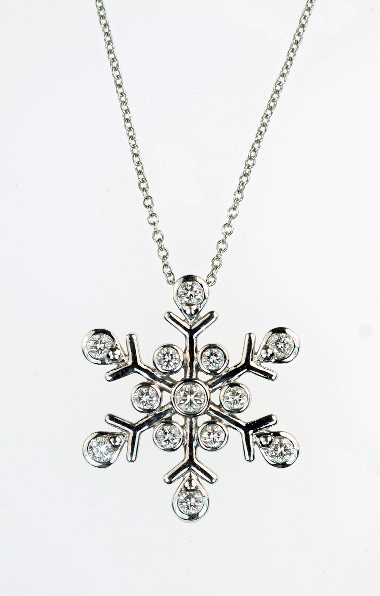 Vintage Tiffany Snowflake Diamond Pendant, SOLD