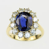 Vintage Sapphire and Diamond Ring, SOLD