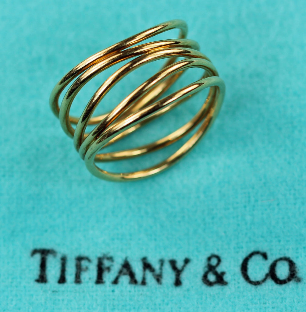 Vintage Tiffany 18k Elsa Peretti Wave Collection Ring