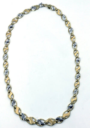 Vintage White and Yellow Gold Chain Necklace