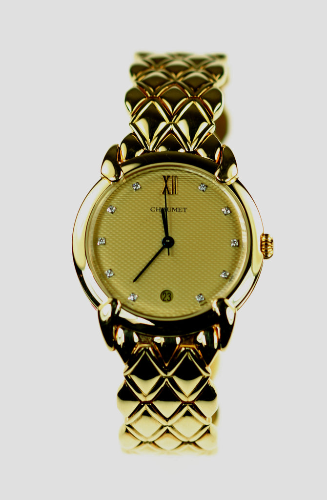 18K Gold Diamond Chaumet Watch, SALE, SOLD