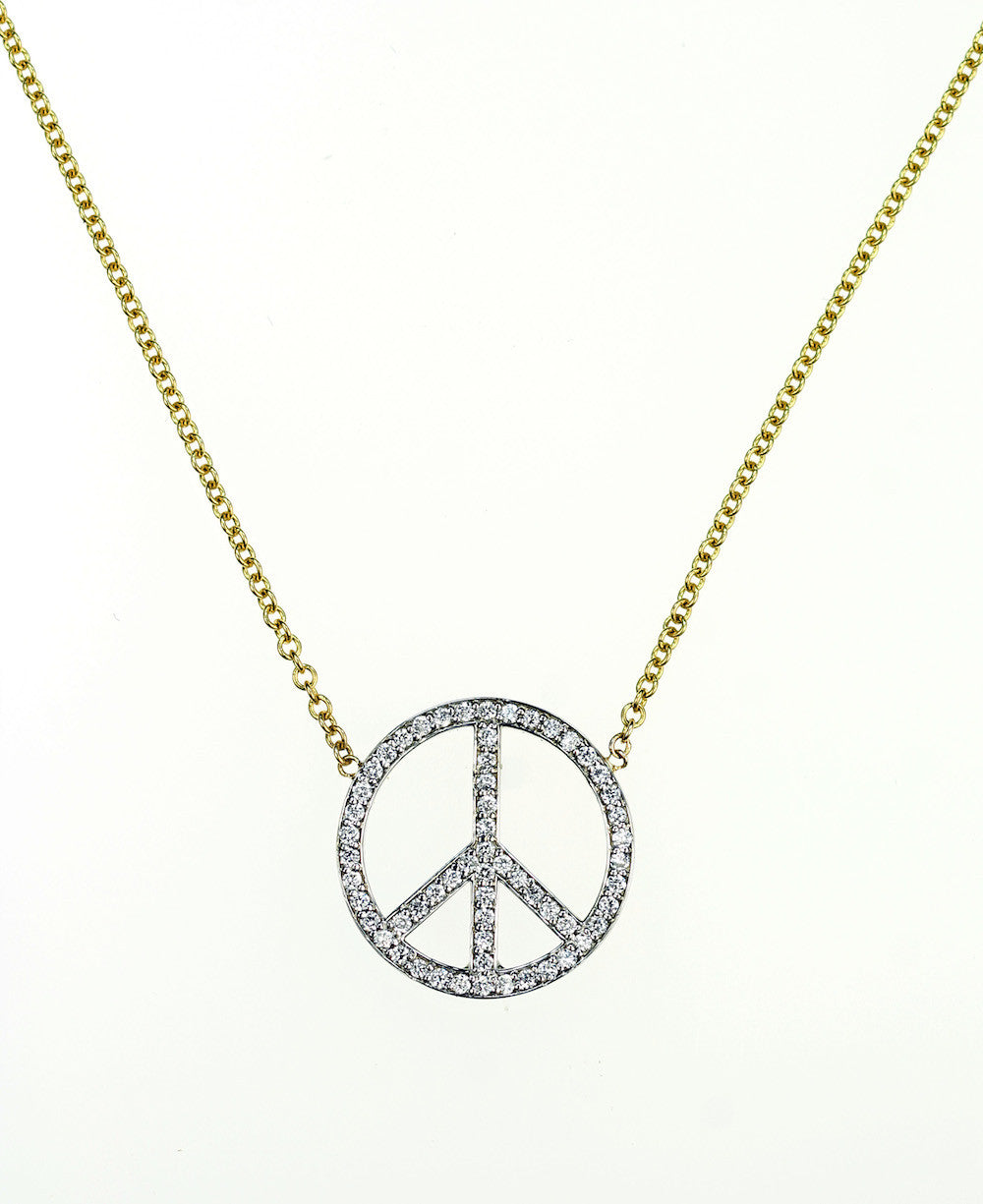 Janet Deleuse Designer Peace Sign Necklace