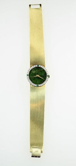 Vintage 18k Gold Piaget Ladies Diamond Watch, SOLD