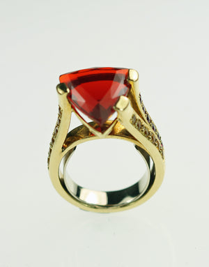 Janet Deleuse Designer Fire Opal Ring, SALE, SOLD