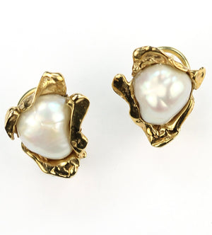 Vintage Fresh Water Pearl Earrings