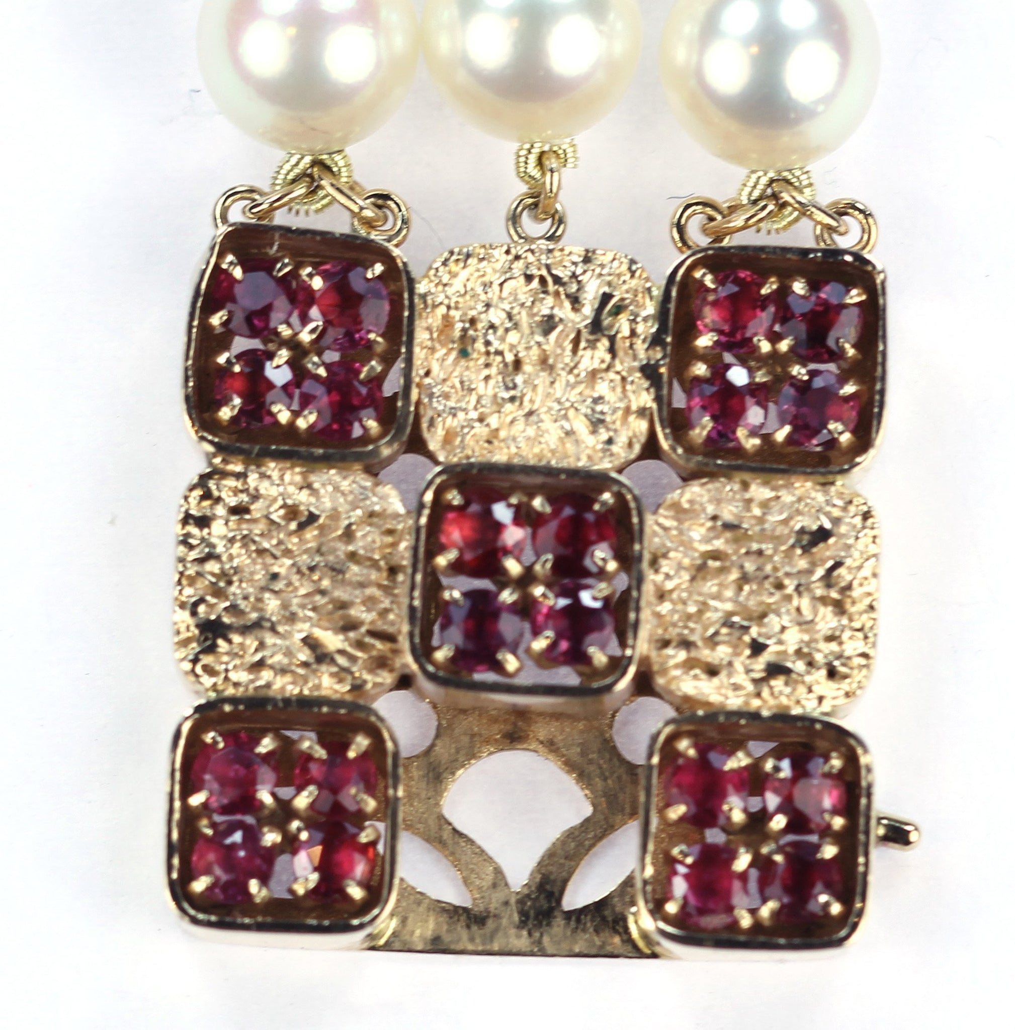 Vintage Deco Ruby and Pearl Bracelet, SALE, SOLD