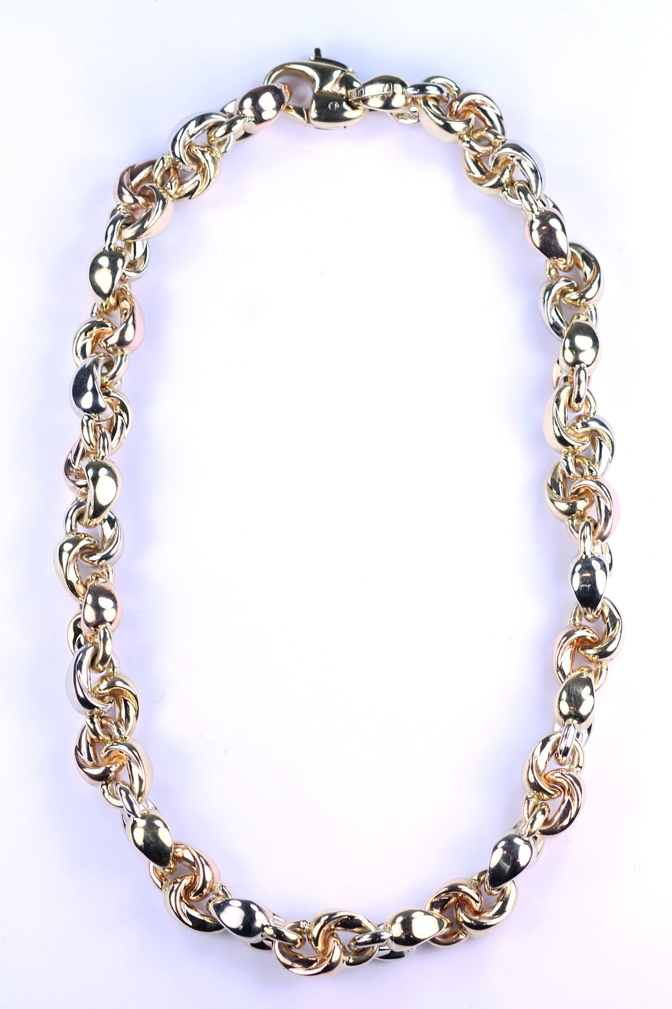 Vintage 14K Tri-Color Gold Chain