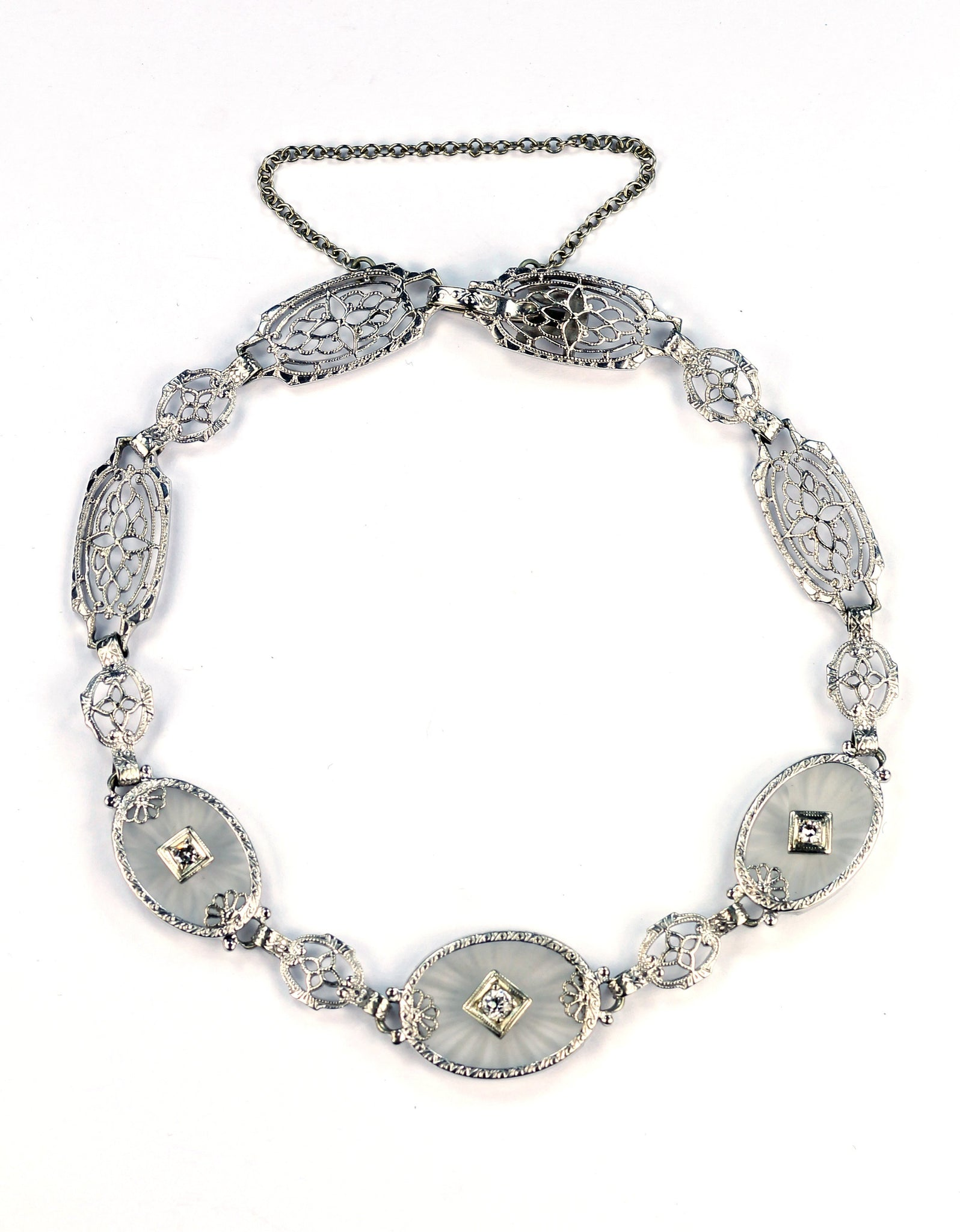 Vintage Rock Crystal and Diamond Bracelet, SOLD