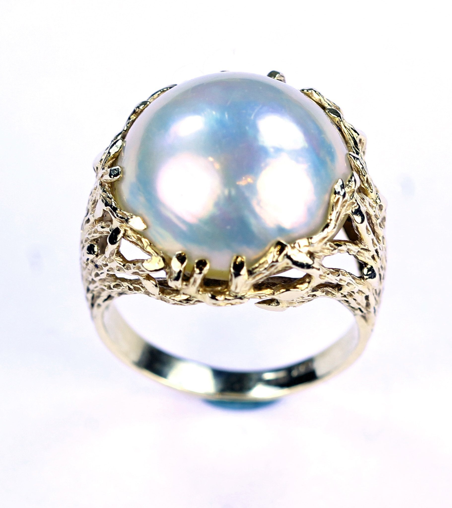 Vintage Mabe Pearl Ring