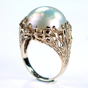 Vintage Mabe Pearl Ring, SOLD