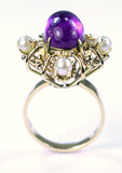 Vintage Amethyst and Pearl Ring, SUPER SALE, SOLD