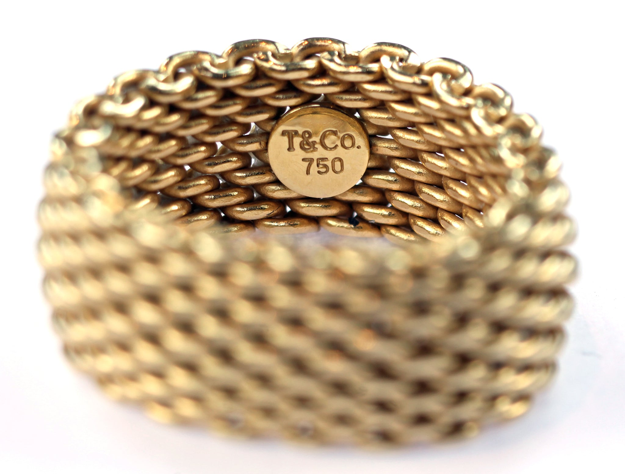 Vintage Tiffany Mesh Gold Ring