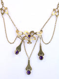 Vintage Victorian Style Amethyst Necklace, SUPER SALE, SOLD
