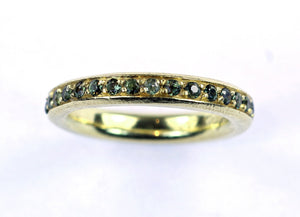 Vintage Green Sapphire Ring, SUPER  SALE, SOLD
