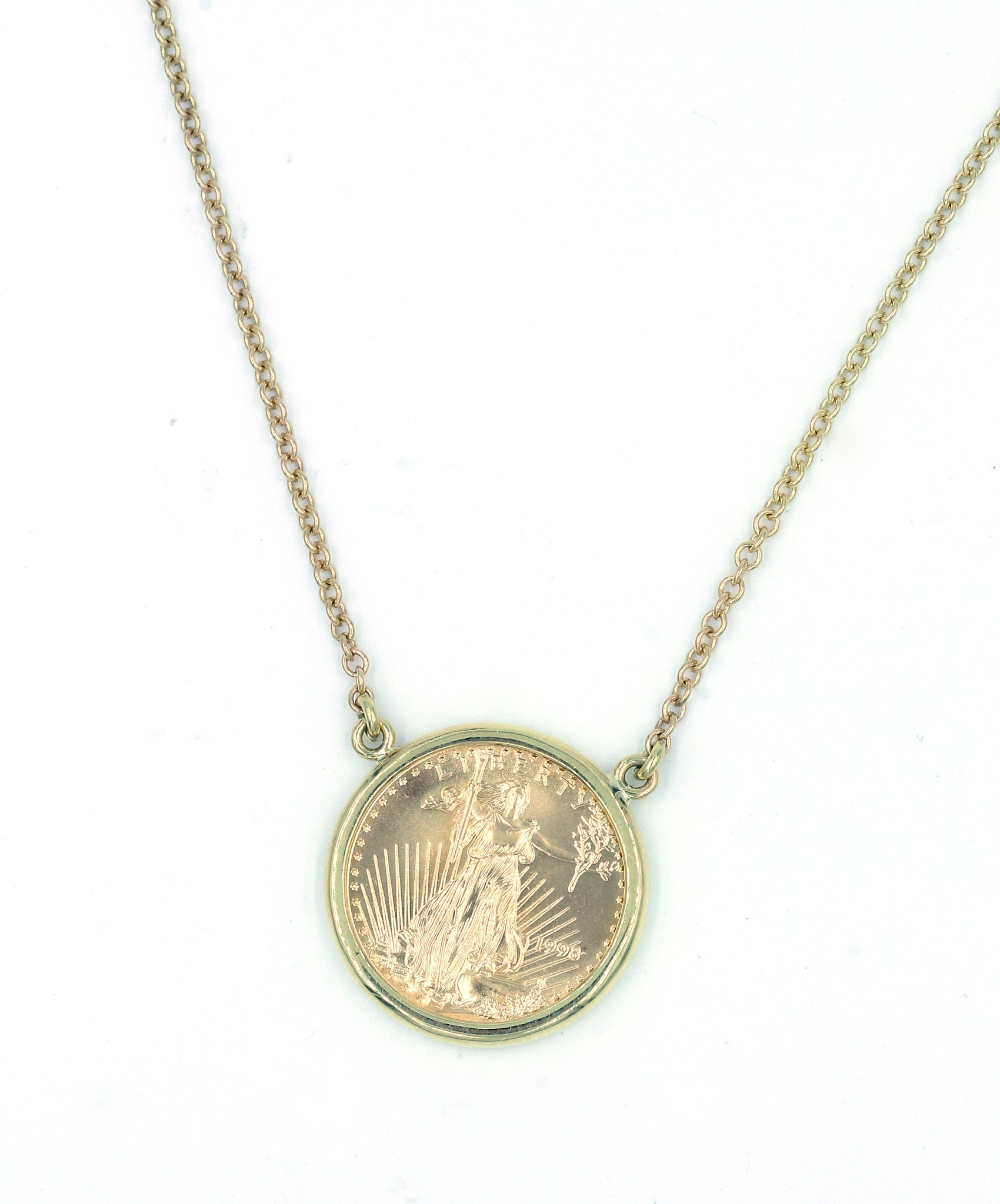 American Liberty Coin Pendant, SOLD