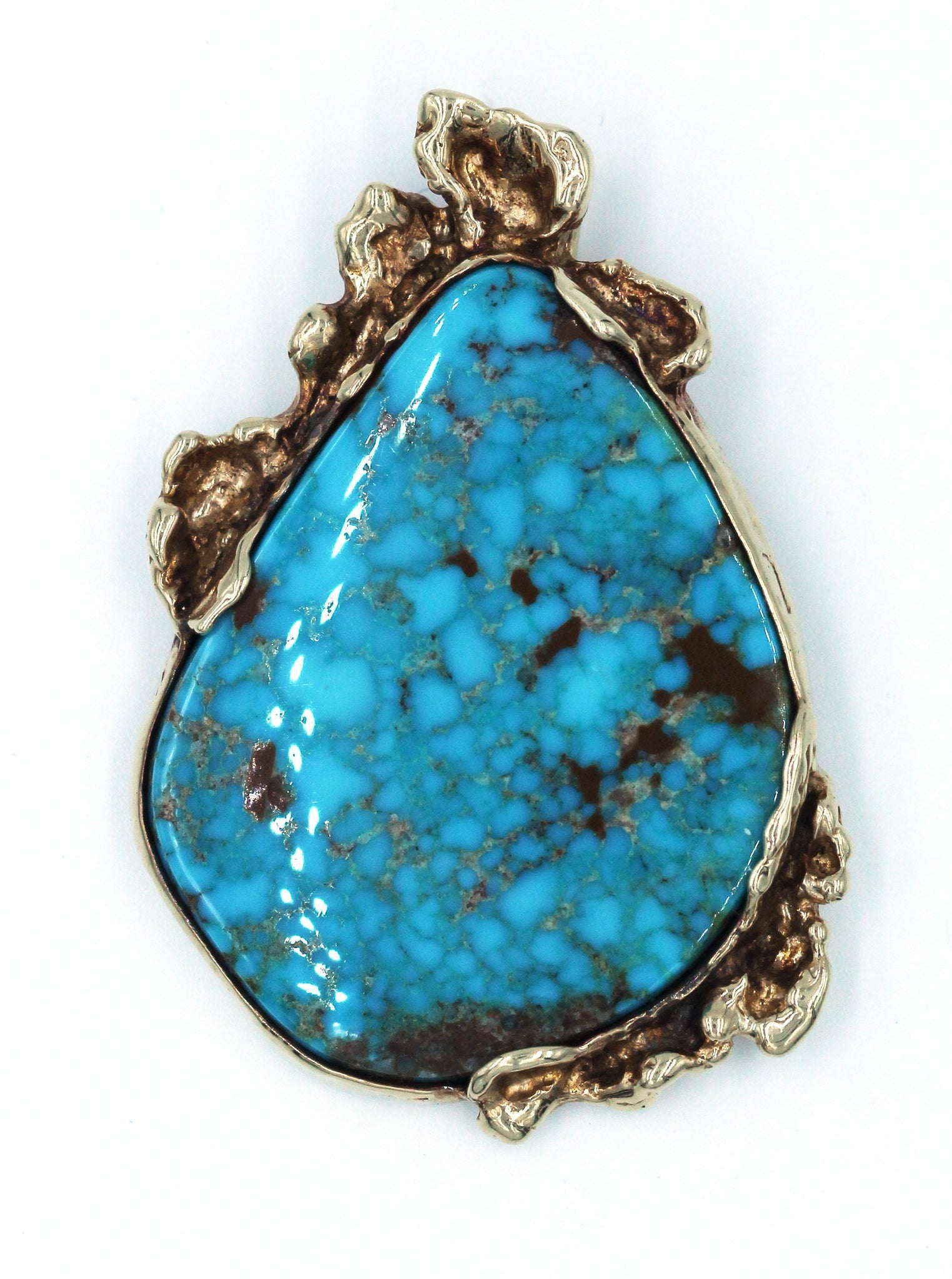 Vintage Turquoise Gold Pendant, SUPER SALE, SOLD