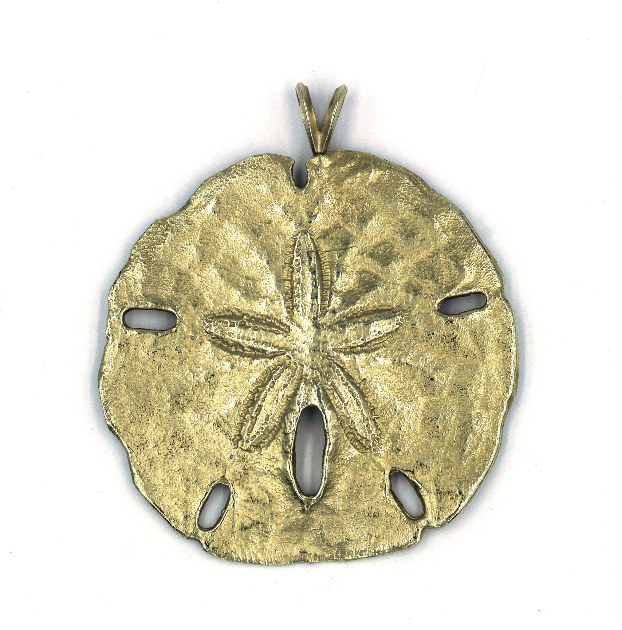 Vintage Gold Sand Dollar Pendant, SOLD