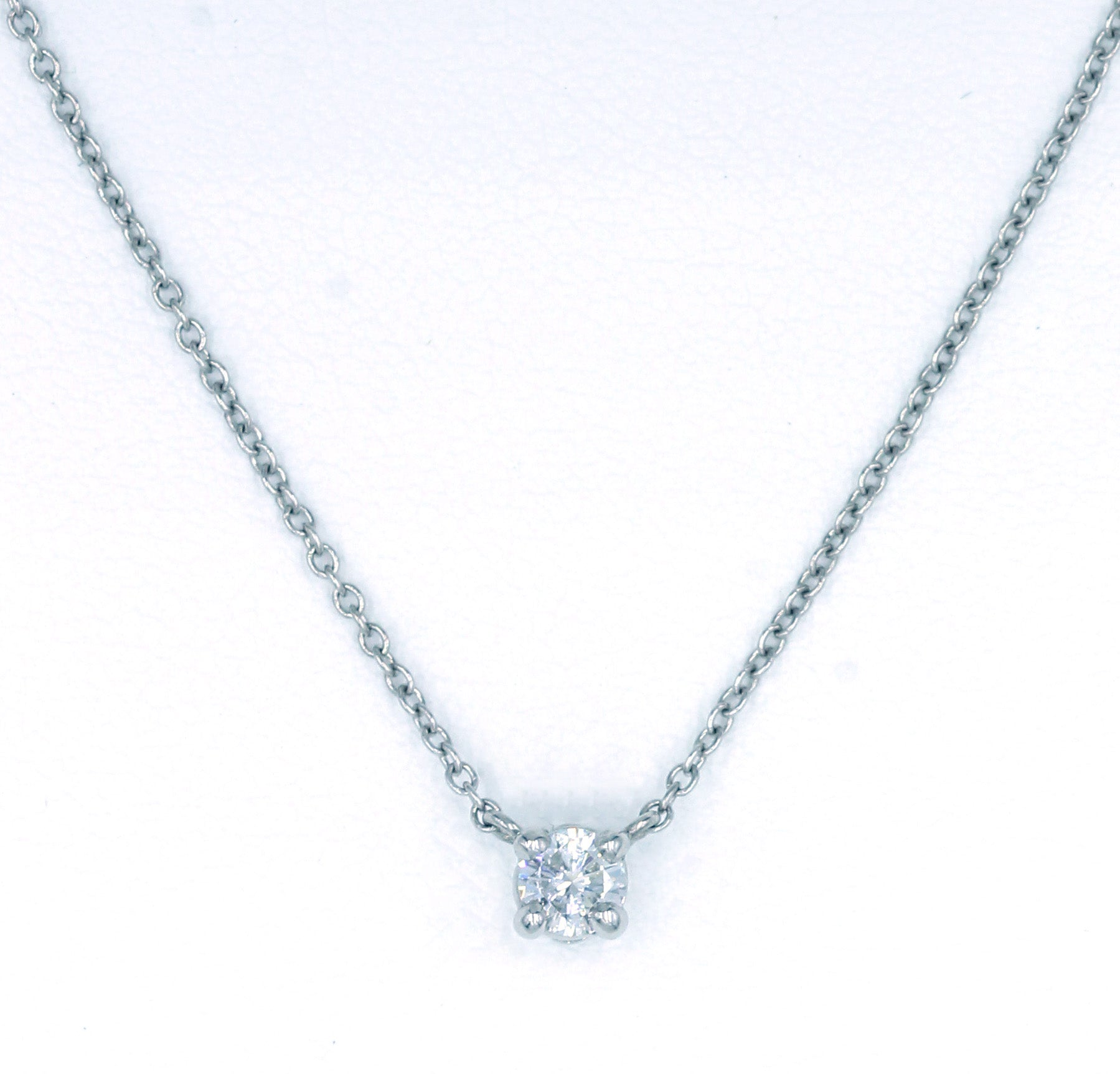 Deleuse Diamond Pendant Necklace, SOLD