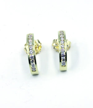 Deleuse Diamond Earrings, SOLD
