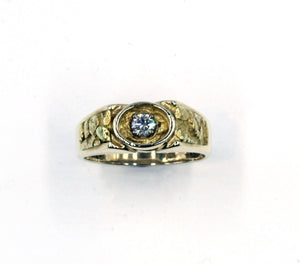 Vintage Diamond and Gold Nugget Ring, SOLD