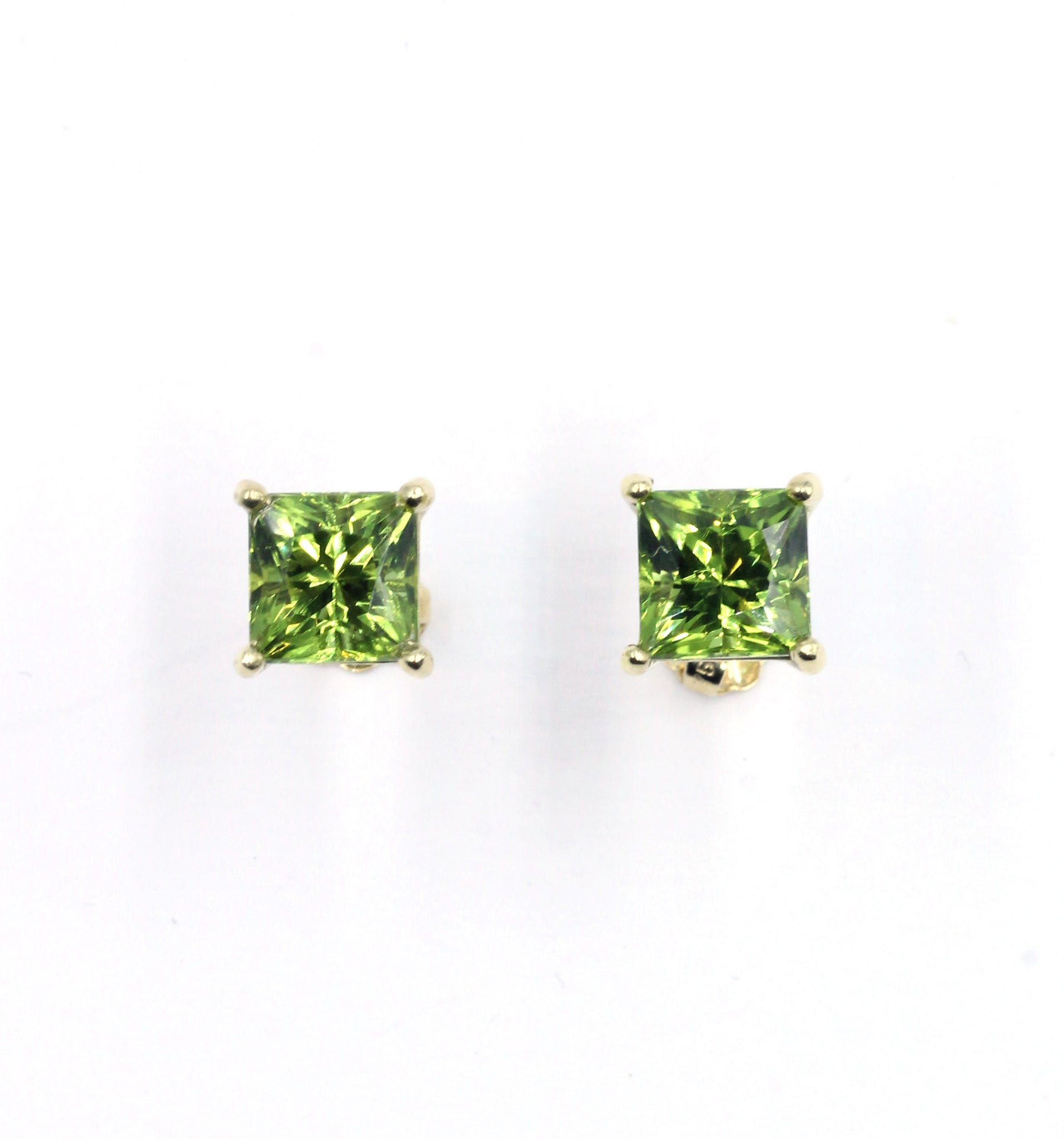 Deleuse Designer Peridot Earrings, Sold