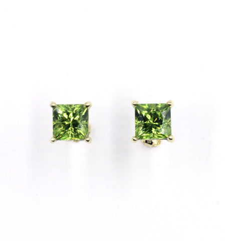 Janet Deleuse Designer Aqua and Peridot Earrings