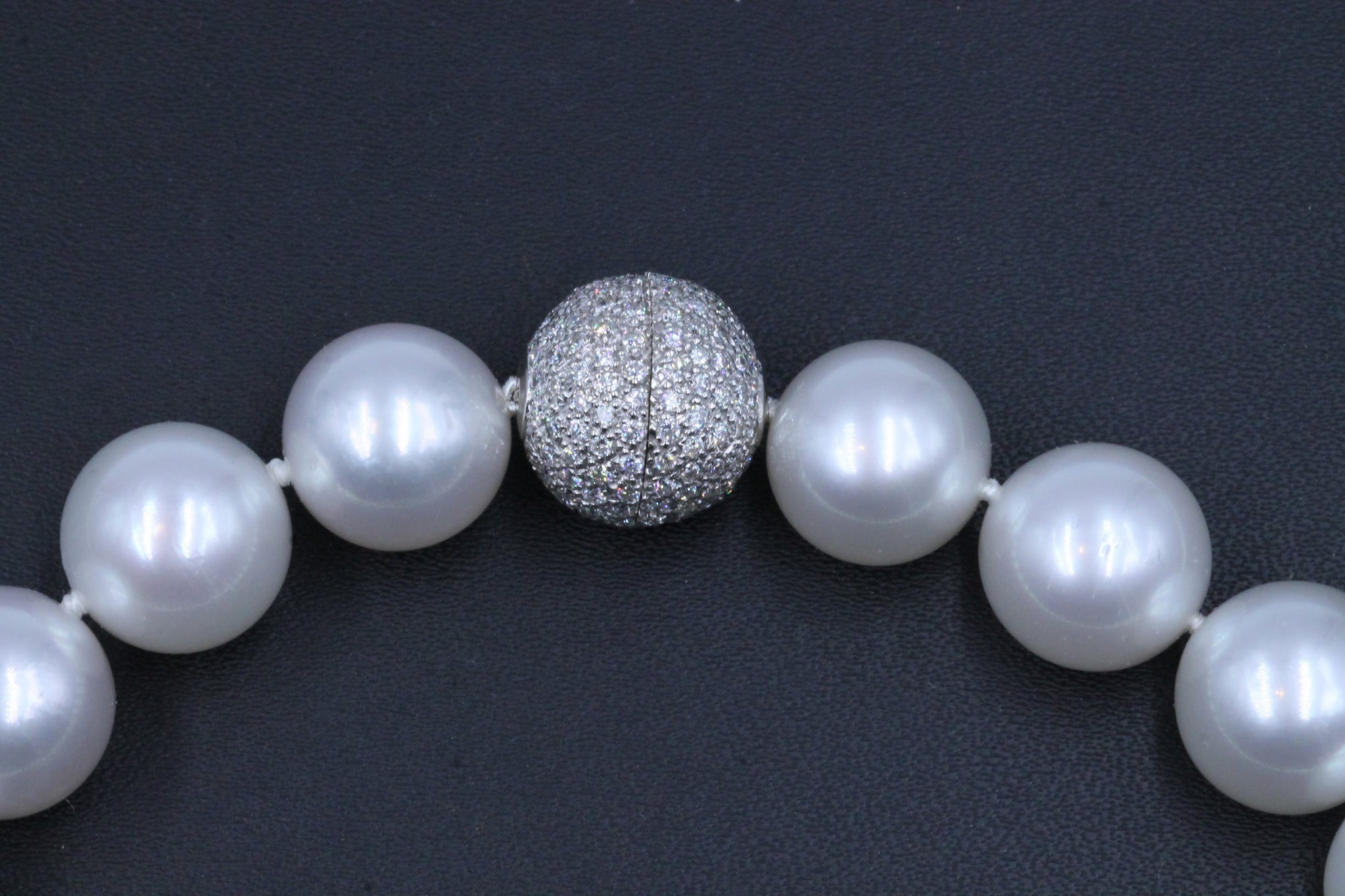 Vintage South Sea Pearl Necklace with Diamond Clasp, SOLD