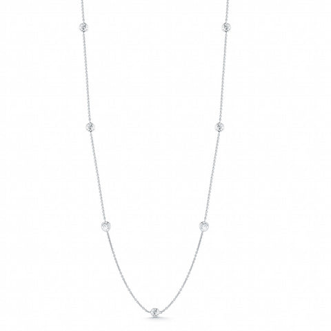 18K White Gold Diamond Necklaces and Bracelet