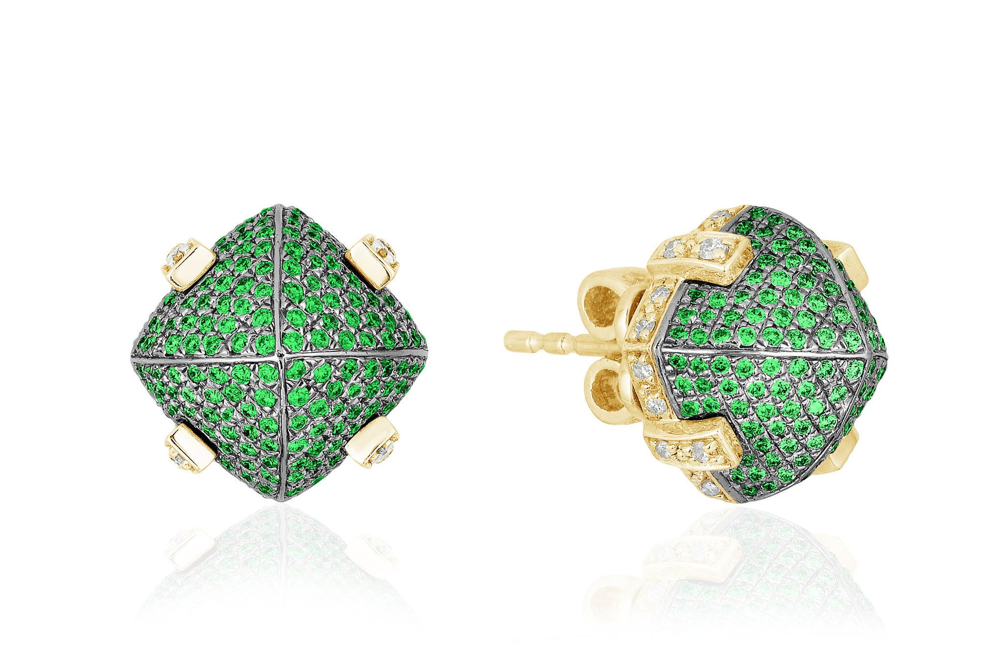 Goshwara Tsavorite and Diamond Earrings, SALE