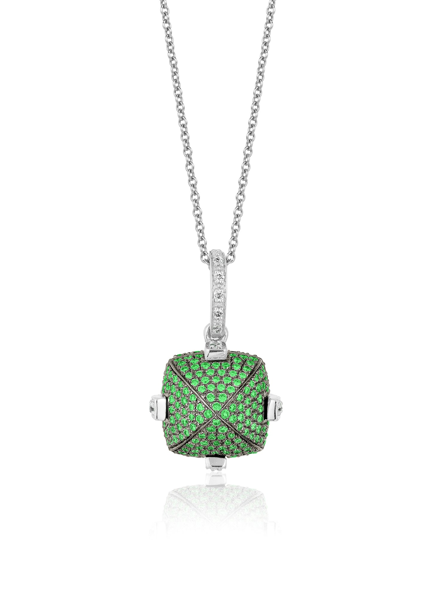 Goshwara Tsavorite and Diamond Pendant Necklace, SALE