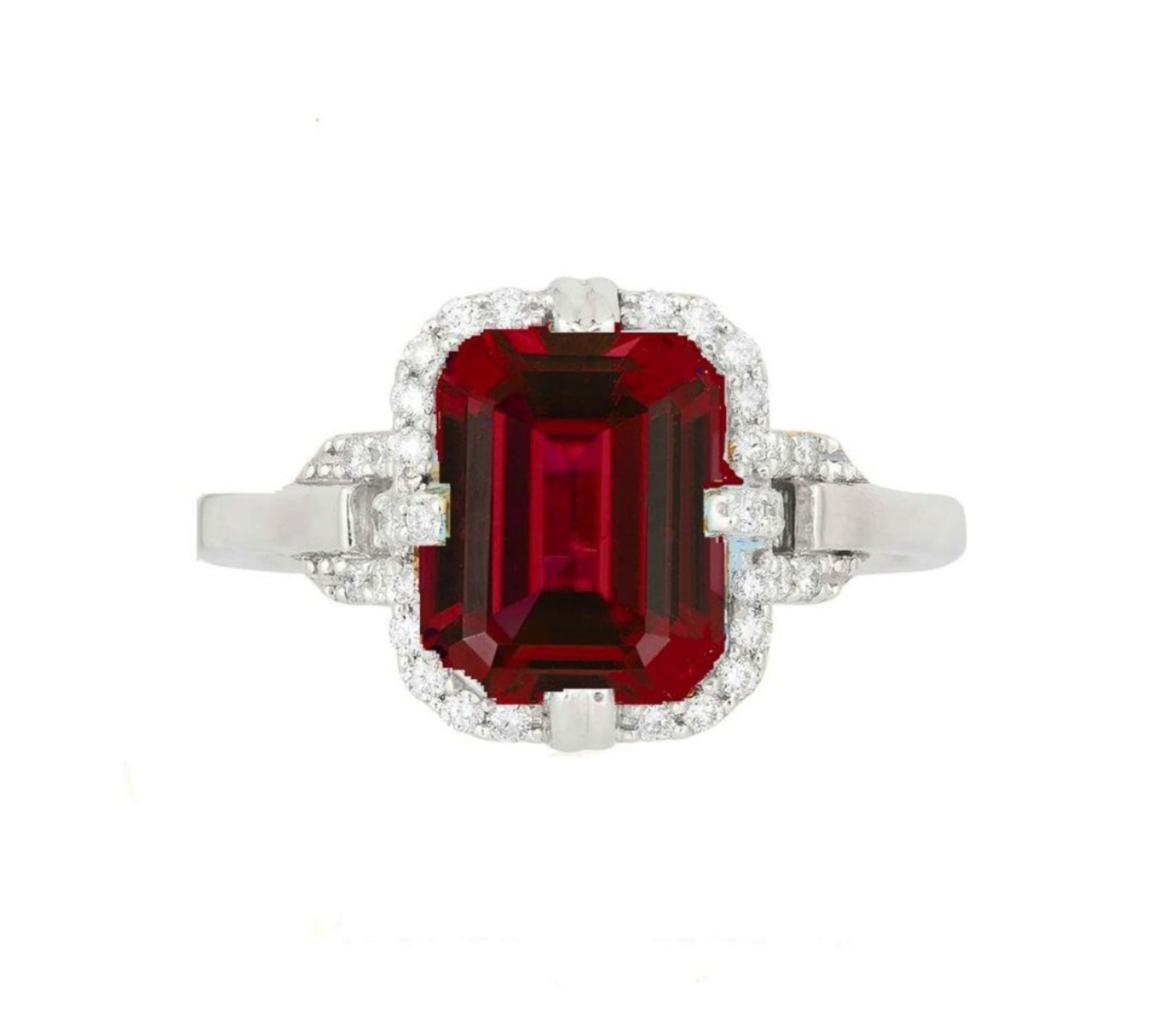 Goshwara Garnet and Diamond Ring