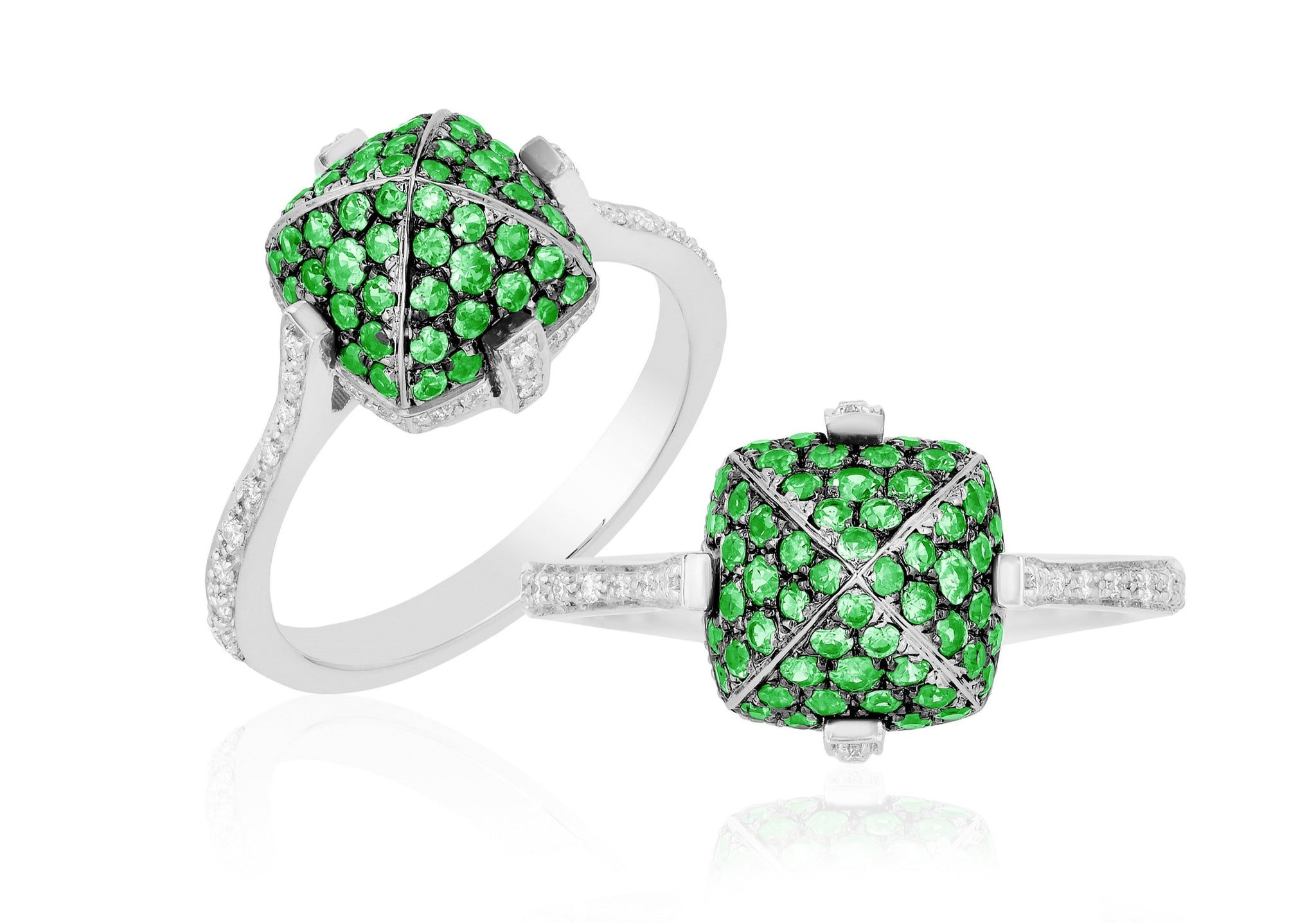 Goshwara Tsavorite and Diamond Ring, SALE