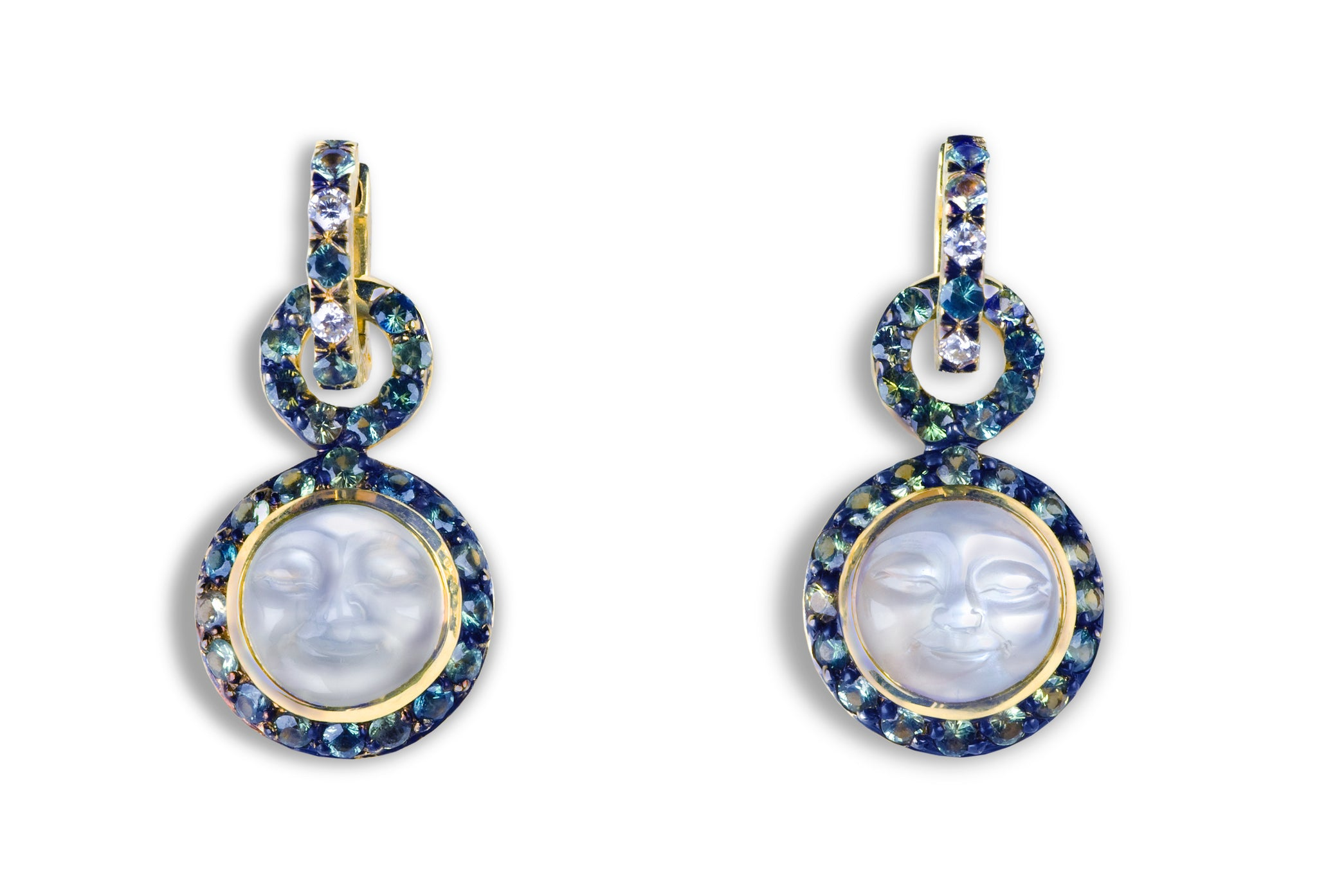 Jennifer Rabe-Morin Moon Faced Earrings