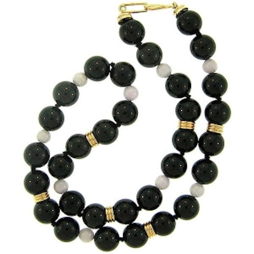 Black Jade Bead Necklace