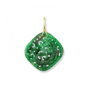 Natural Green Jade Carved Dragon Pendant, SOLD