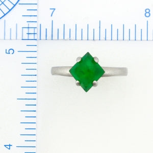 Natural Green Jade Ring, SOLD