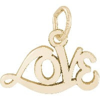 14K Yellow Gold Love Charm