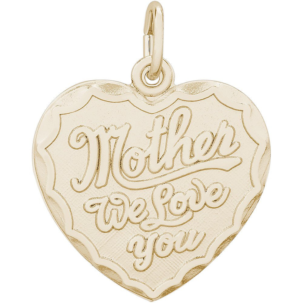 14k Gold  Mother Charm